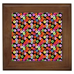 Colorful Yummy Donuts Pattern Framed Tiles by EDDArt