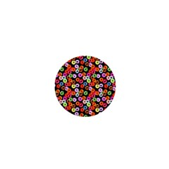 Colorful Yummy Donuts Pattern 1  Mini Magnets by EDDArt