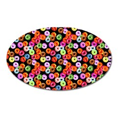 Colorful Yummy Donuts Pattern Oval Magnet by EDDArt