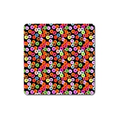 Colorful Yummy Donuts Pattern Square Magnet by EDDArt