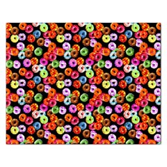 Colorful Yummy Donuts Pattern Rectangular Jigsaw Puzzl by EDDArt