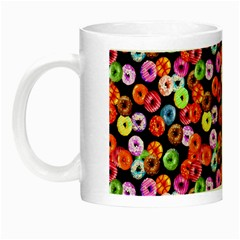 Colorful Yummy Donuts Pattern Night Luminous Mugs by EDDArt