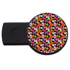 Colorful Yummy Donuts Pattern Usb Flash Drive Round (4 Gb) by EDDArt