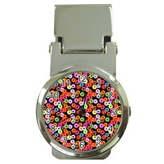 Colorful Yummy Donuts Pattern Money Clip Watches by EDDArt