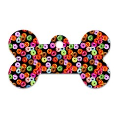 Colorful Yummy Donuts Pattern Dog Tag Bone (one Side) by EDDArt