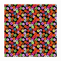 Colorful Yummy Donuts Pattern Medium Glasses Cloth (2 Side) by EDDArt