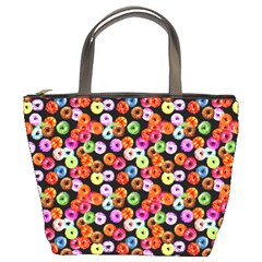 Colorful Yummy Donuts Pattern Bucket Bags by EDDArt