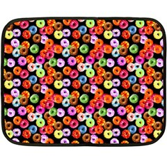 Colorful Yummy Donuts Pattern Fleece Blanket (mini) by EDDArt
