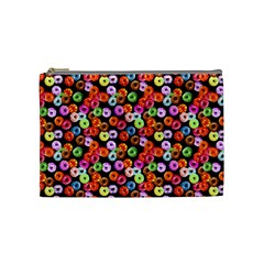Colorful Yummy Donuts Pattern Cosmetic Bag (medium)  by EDDArt
