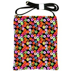 Colorful Yummy Donuts Pattern Shoulder Sling Bags by EDDArt