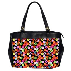 Colorful Yummy Donuts Pattern Office Handbags (2 Sides)  by EDDArt