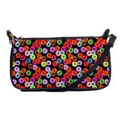 Colorful Yummy Donuts Pattern Shoulder Clutch Bags by EDDArt