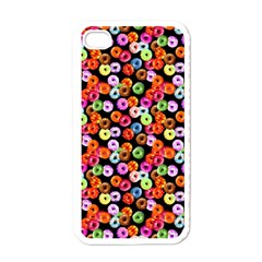 Colorful Yummy Donuts Pattern Apple Iphone 4 Case (white) by EDDArt