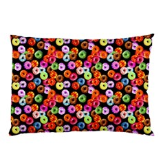 Colorful Yummy Donuts Pattern Pillow Case (two Sides) by EDDArt