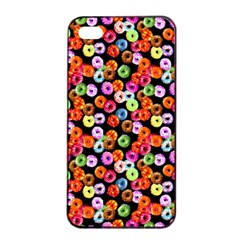 Colorful Yummy Donuts Pattern Apple Iphone 4/4s Seamless Case (black) by EDDArt