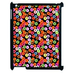 Colorful Yummy Donuts Pattern Apple Ipad 2 Case (black) by EDDArt