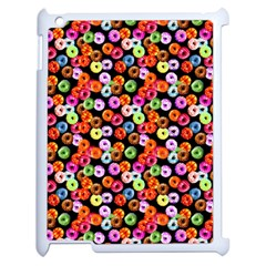 Colorful Yummy Donuts Pattern Apple Ipad 2 Case (white) by EDDArt