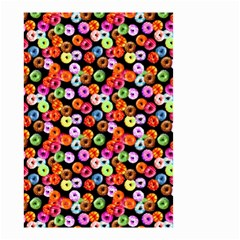 Colorful Yummy Donuts Pattern Small Garden Flag (two Sides) by EDDArt