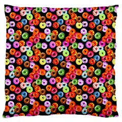 Colorful Yummy Donuts Pattern Large Cushion Case (one Side) by EDDArt