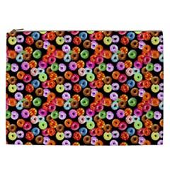Colorful Yummy Donuts Pattern Cosmetic Bag (xxl)  by EDDArt