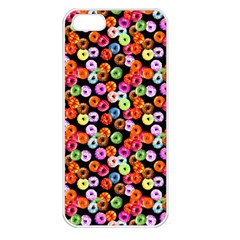 Colorful Yummy Donuts Pattern Apple Iphone 5 Seamless Case (white) by EDDArt
