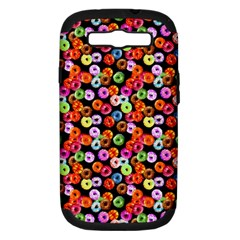 Colorful Yummy Donuts Pattern Samsung Galaxy S Iii Hardshell Case (pc+silicone) by EDDArt