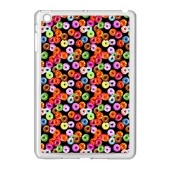 Colorful Yummy Donuts Pattern Apple Ipad Mini Case (white) by EDDArt