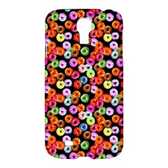 Colorful Yummy Donuts Pattern Samsung Galaxy S4 I9500/i9505 Hardshell Case by EDDArt