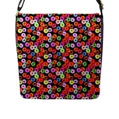 Colorful Yummy Donuts Pattern Flap Messenger Bag (l)  by EDDArt