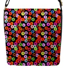 Colorful Yummy Donuts Pattern Flap Messenger Bag (s) by EDDArt