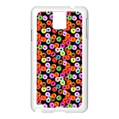 Colorful Yummy Donuts Pattern Samsung Galaxy Note 3 N9005 Case (white)