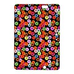 Colorful Yummy Donuts Pattern Kindle Fire Hdx 8 9  Hardshell Case by EDDArt
