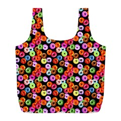 Colorful Yummy Donuts Pattern Full Print Recycle Bags (l)  by EDDArt