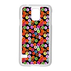 Colorful Yummy Donuts Pattern Samsung Galaxy S5 Case (white) by EDDArt