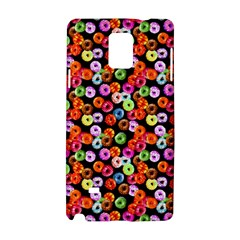 Colorful Yummy Donuts Pattern Samsung Galaxy Note 4 Hardshell Case by EDDArt