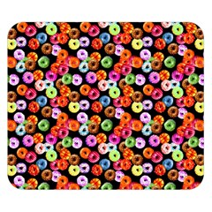 Colorful Yummy Donuts Pattern Double Sided Flano Blanket (small)  by EDDArt