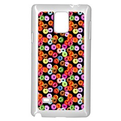 Colorful Yummy Donuts Pattern Samsung Galaxy Note 4 Case (white) by EDDArt