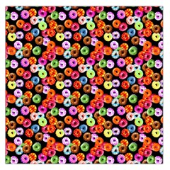 Colorful Yummy Donuts Pattern Large Satin Scarf (square) by EDDArt