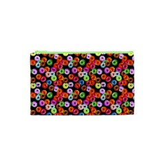 Colorful Yummy Donuts Pattern Cosmetic Bag (xs) by EDDArt