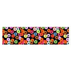 Colorful Yummy Donuts Pattern Satin Scarf (oblong) by EDDArt