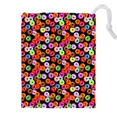 Colorful Yummy Donuts Pattern Drawstring Pouches (xxl) by EDDArt