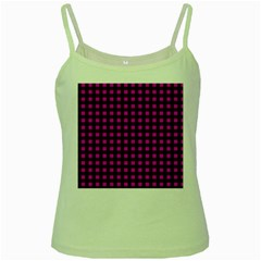Lumberjack Fabric Pattern Pink Black Green Spaghetti Tank by EDDArt