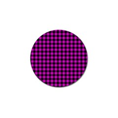 Lumberjack Fabric Pattern Pink Black Golf Ball Marker (4 Pack) by EDDArt