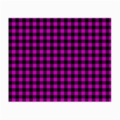 Lumberjack Fabric Pattern Pink Black Small Glasses Cloth by EDDArt