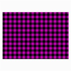 Lumberjack Fabric Pattern Pink Black Large Glasses Cloth (2 Side) by EDDArt