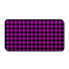 Lumberjack Fabric Pattern Pink Black Medium Bar Mats by EDDArt