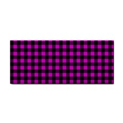 Lumberjack Fabric Pattern Pink Black Cosmetic Storage Cases by EDDArt
