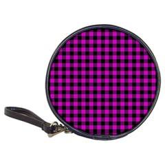 Lumberjack Fabric Pattern Pink Black Classic 20 Cd Wallets by EDDArt