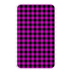 Lumberjack Fabric Pattern Pink Black Memory Card Reader by EDDArt