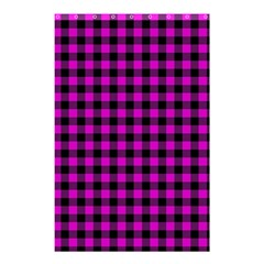 Lumberjack Fabric Pattern Pink Black Shower Curtain 48  X 72  (small)  by EDDArt